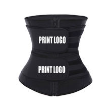 2019 New Printing Logo Private Label Women Slimming Workout Compression Double Belt Neoprene Waist Trainer