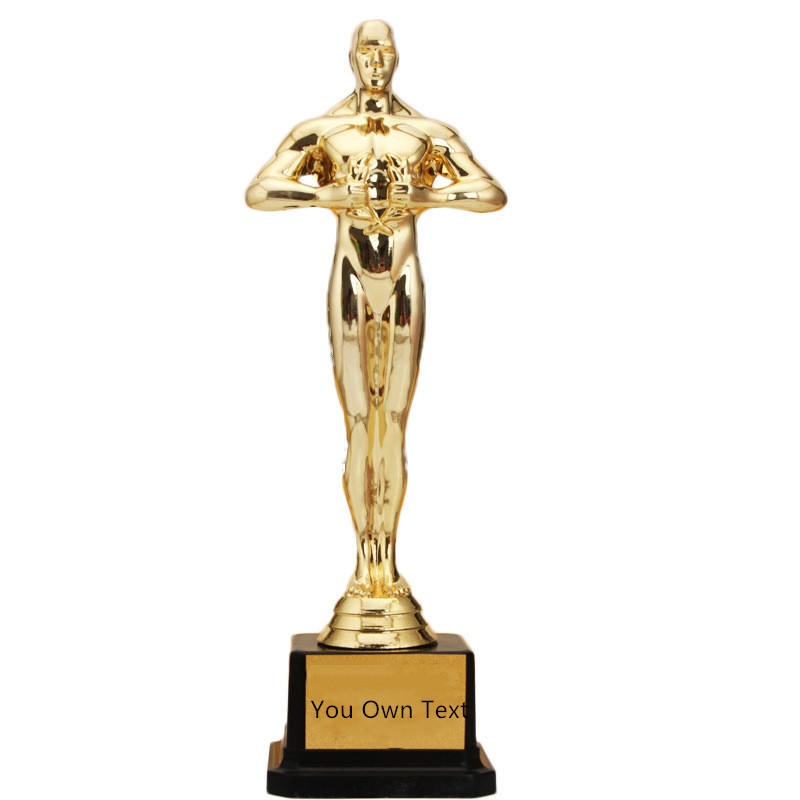 custom gold oscar award blank trophy customized replica grammy award year end for Ceremony's or Party employees family