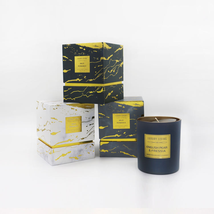 220g paraffin/soy wax luxury custom logo aromatherapy scetned candle in glass jar with gift box