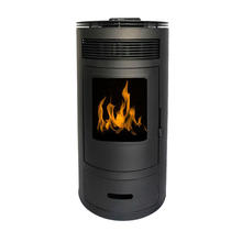 Cheap China air pellet stove for home heating with round shape