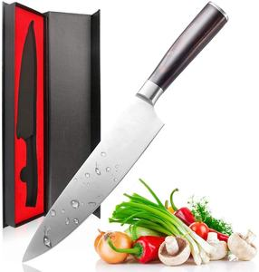 Pro 8 Inch Kitchen Chefs knife High Carbon German Stainless Steel Sharp paring knife with Ergonomic Handle