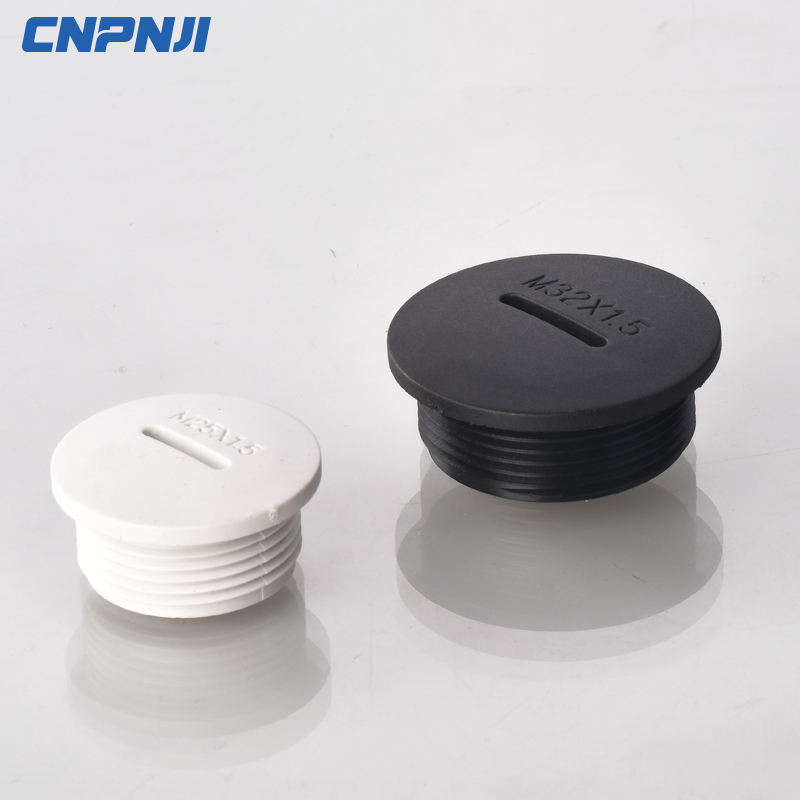 Plastic cable screw plug blind plug
