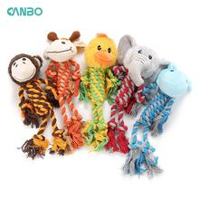 New pet plush toy stitching bite-tolerant animal series, squeak puppets molar teeth bite-resistant dog toys