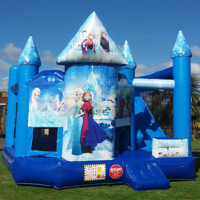 5 in 1 Commercial Combi BOUNCE House Commercial Inflatable แช่แข็งปราสาท Bouncy สไลด์
