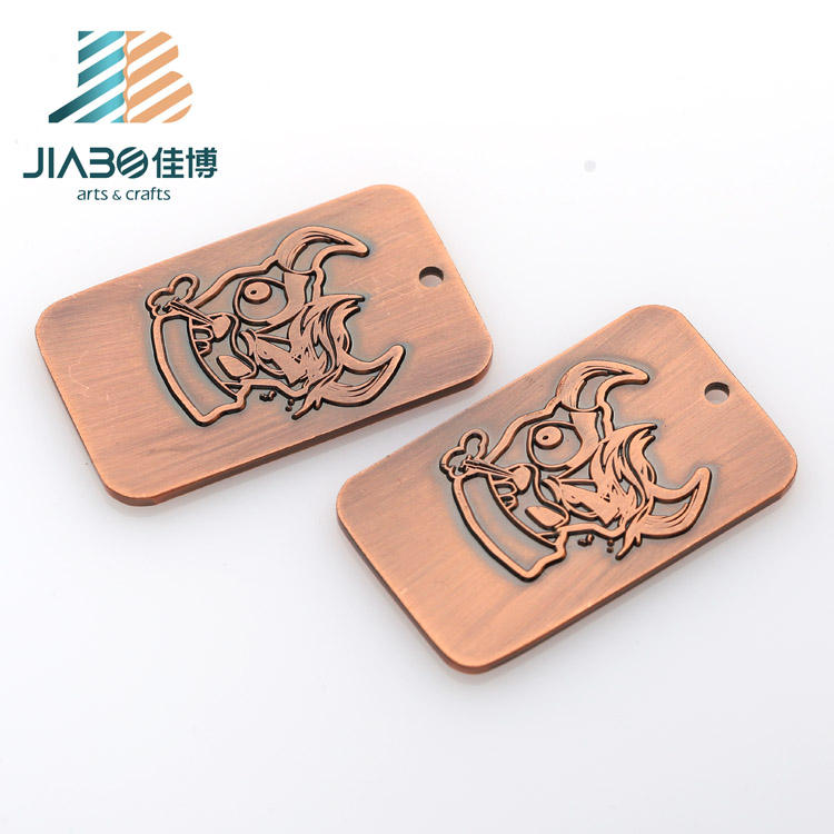 Jiabo Brass Customized 3d Logo Engraved Wholesale Sublimation Dog Tags