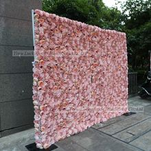 LFB1227 customized wedding party event silk floral backdrop peony rose flower walls