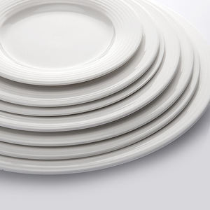 Wholesale Hotel Collection Ceramic Party Plates Chaozhou Factory Hotel Ware Plate Dinner Set#