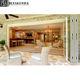 Factory Sales Large Indoor Patio Security Fireproof Waterproof Folding Glass Door For Villa