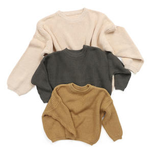 Wholesale Children Boutique Clothing Warm Winter Clothes Baby Princess Wool Winter Sweater Girls Sweater