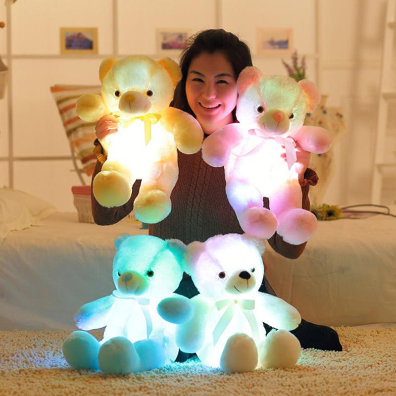 50cm Light Up Giant Teddy Bear Stuffed Teddy LED Toys Wholesale Musical peluches oso de peluche Teddy Bear
