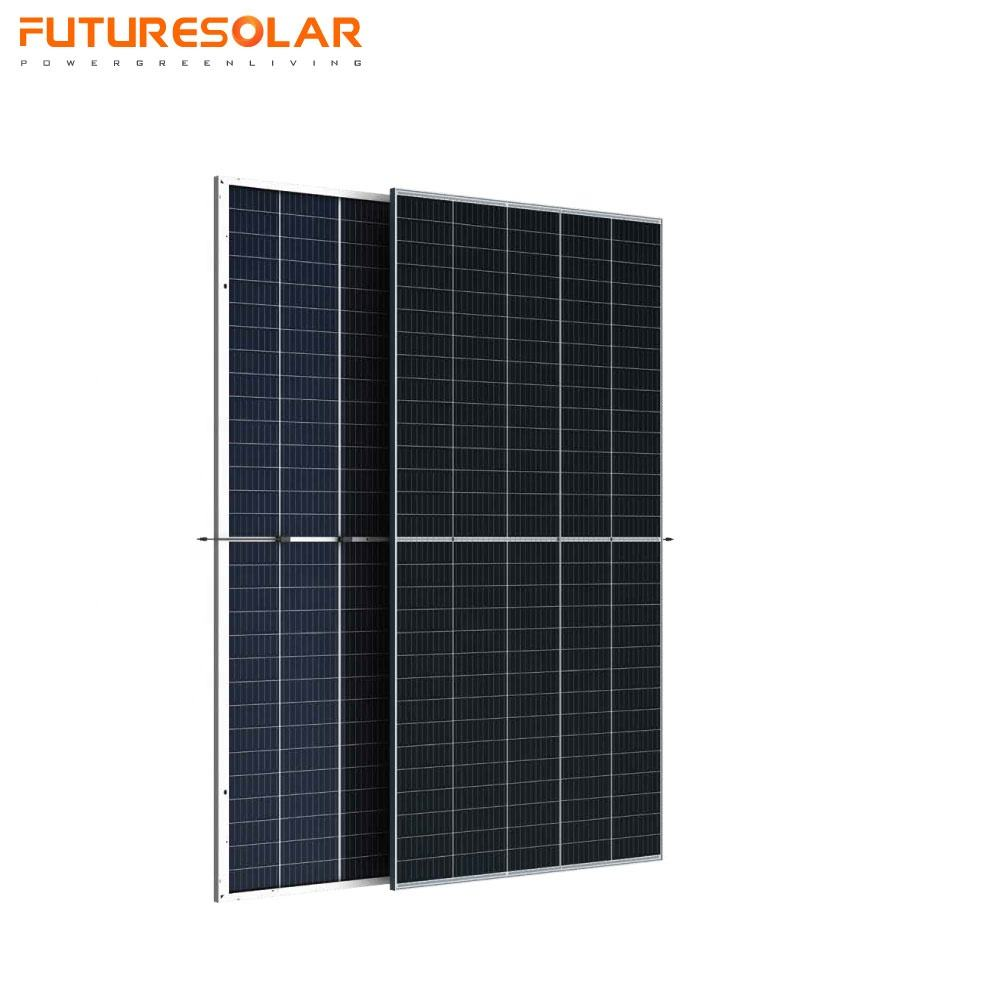 Double Glass PERC Mono 420w 430w 440450w 500w BIPV Transparent Bifacial Solar Panel