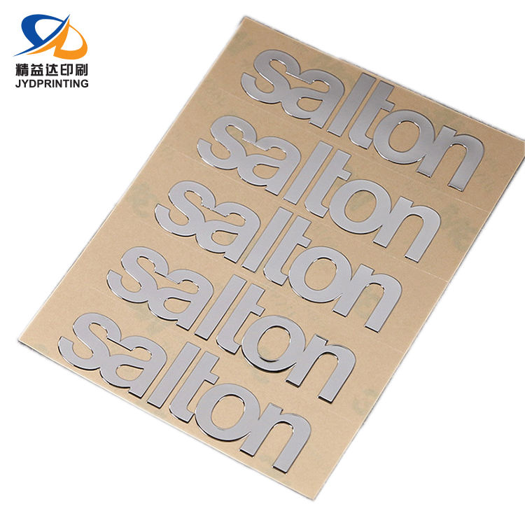 Manufacture Custom Logo Waterproof Adhesive 3D Metal Electroforming Nickel Car Stickers
