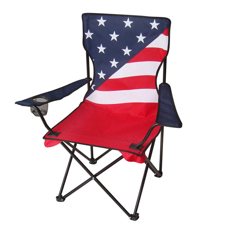 Outdoor furniture metal folding chair camping hiking beach armchair