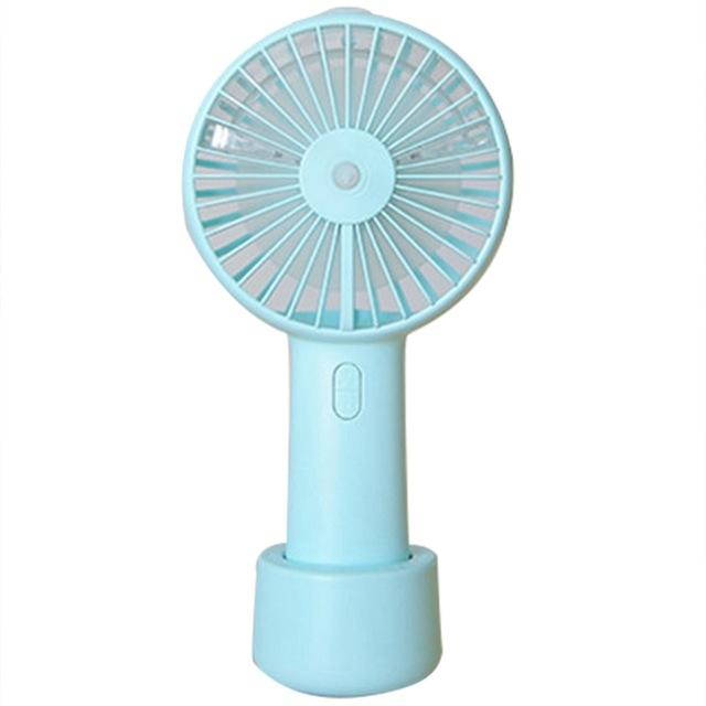Mist Spray Mini Rechargeable Charging Fan Stand Cooler Wholesale Plastic Outdoor Handy Portable Hand Water Table Fan