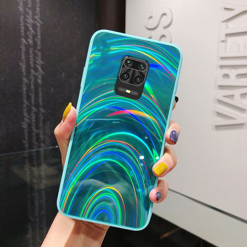 Voor Xiaomi <span class=keywords><strong>Redmi</strong></span> Opmerking 9 S 9 S Case Rainbow Spiegel Soft Telefoon Gevallen Voor <span class=keywords><strong>Redmi</strong></span> <span class=keywords><strong>Note</strong></span> <span class=keywords><strong>8</strong></span> 9 <span class=keywords><strong>Pro</strong></span> max Glitter Bling Laser Back Cover