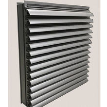 Decorative fresh air intake aluminium weather Exterior shutters