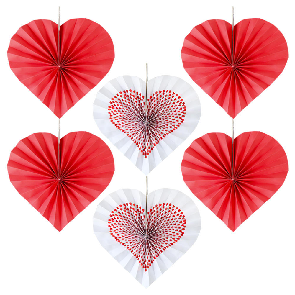 Paper Fan Flower Peach Heart Paper Fan Flower Wedding Pull Flower Decoration Arrangement Party Decorations