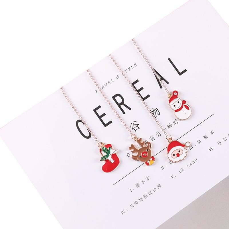 stationary Quality supplier stocked cute Christmas series custom metal bookmark for books