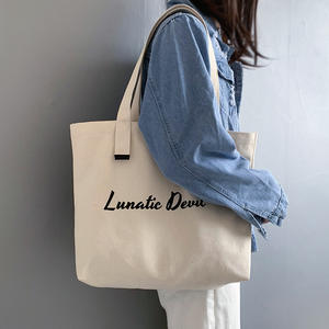Eco-friendly Reusable Tote Canvas Bags with Custom Printed Logo