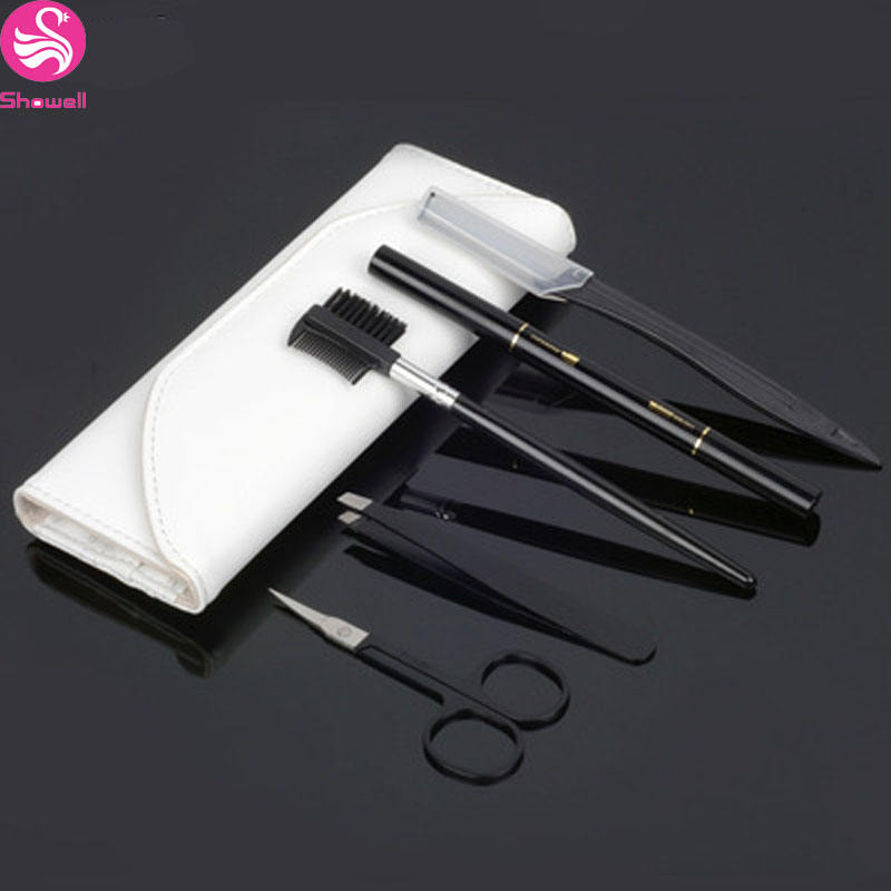 5pcs Eyebrow trimmer /comb/shaver/pencil/knife make up set