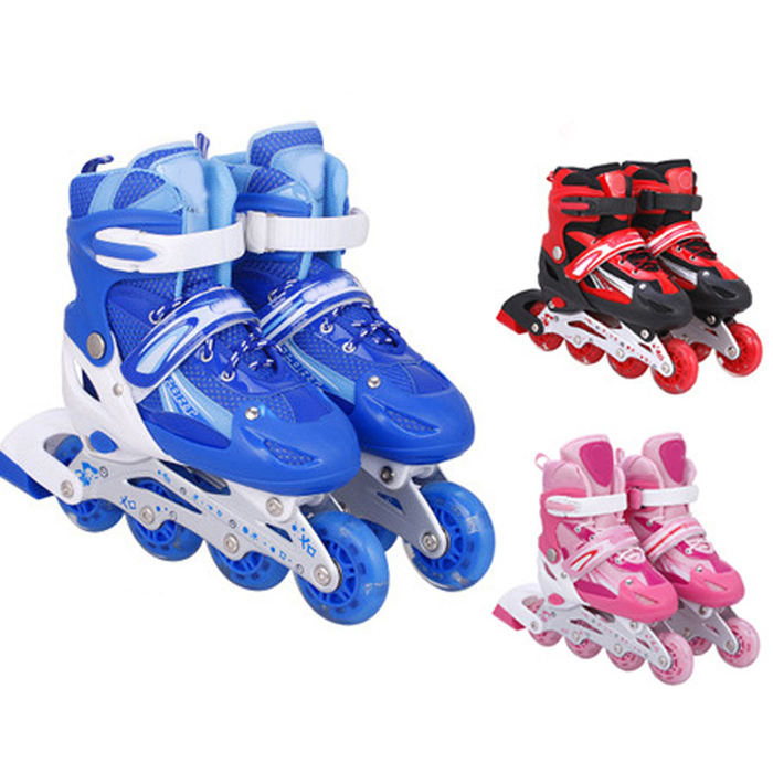 Hot Sale Popular Flashing Children Boys Girls Skate Shoes Inline Roller Skates For Kids