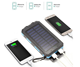Portable Bank Solar Portable Water Proof 8000mah Power Bank Solar Panel Phone Charger For Hiking