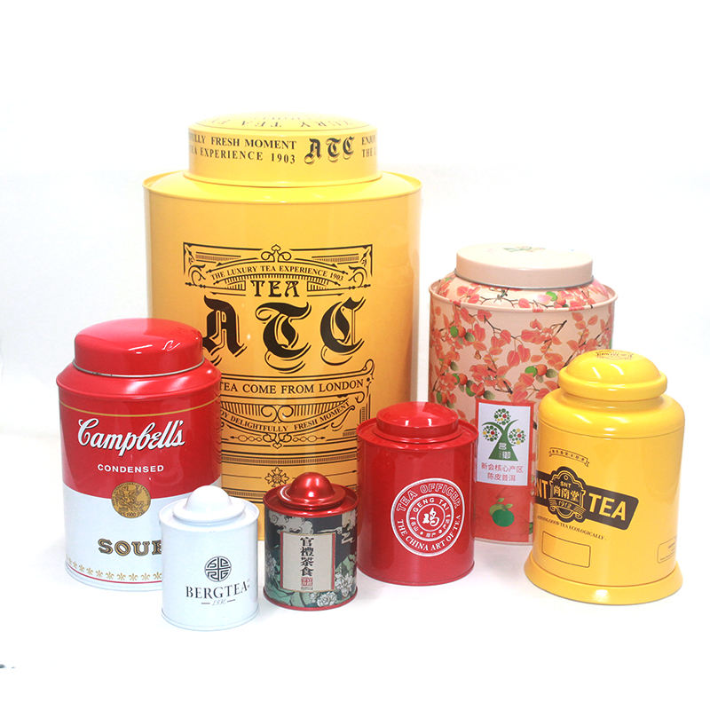High Quality Metal Tea Can Canister Tea Tin Box in Tube