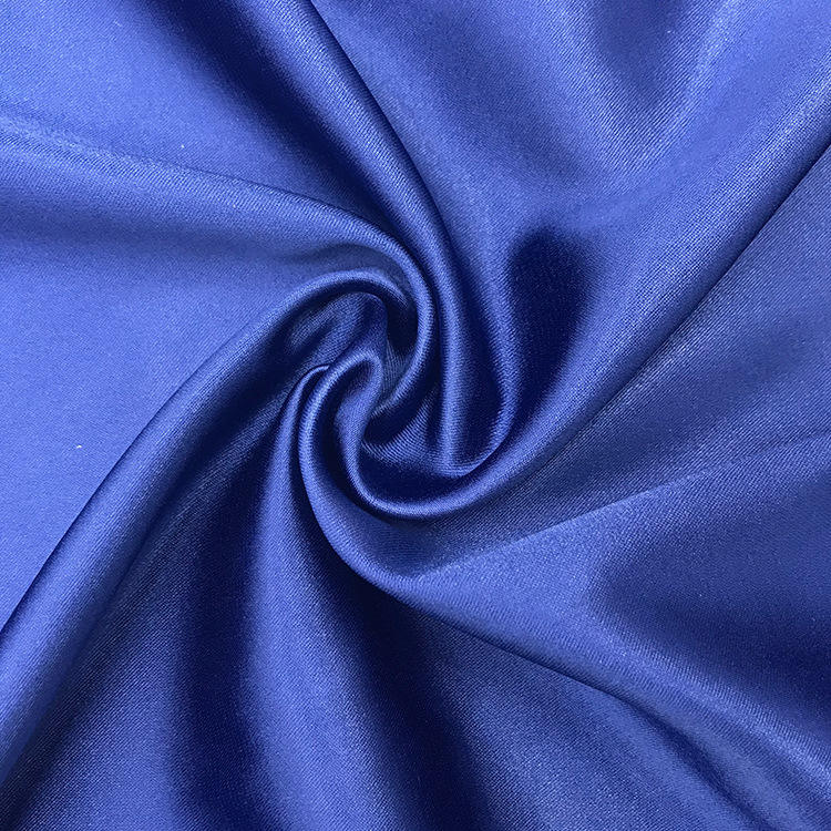 High quality Spandex matte Satin Fabric 100% Polyester Thick Satin For Wedding