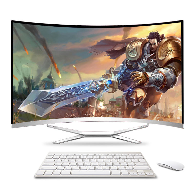 2020 factory price china 27''/23.8''/22'' curved screen all in one desktops intel i3 i5 i7 AIO pc gaming computer
