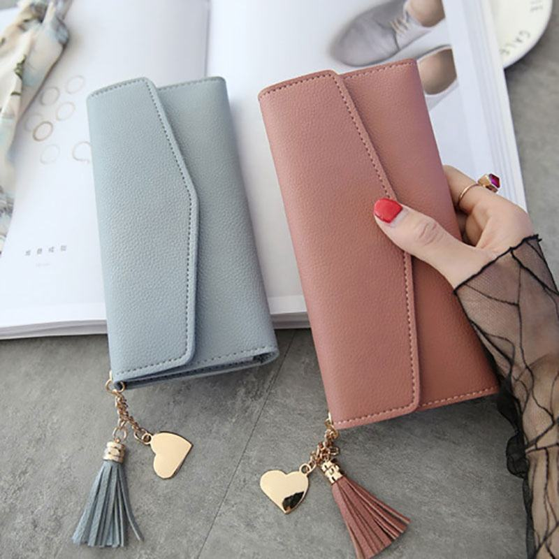 2019 Simple Zipper Purses Long Section Clutch Wallet Soft PU leather designer slim wallets leather woman