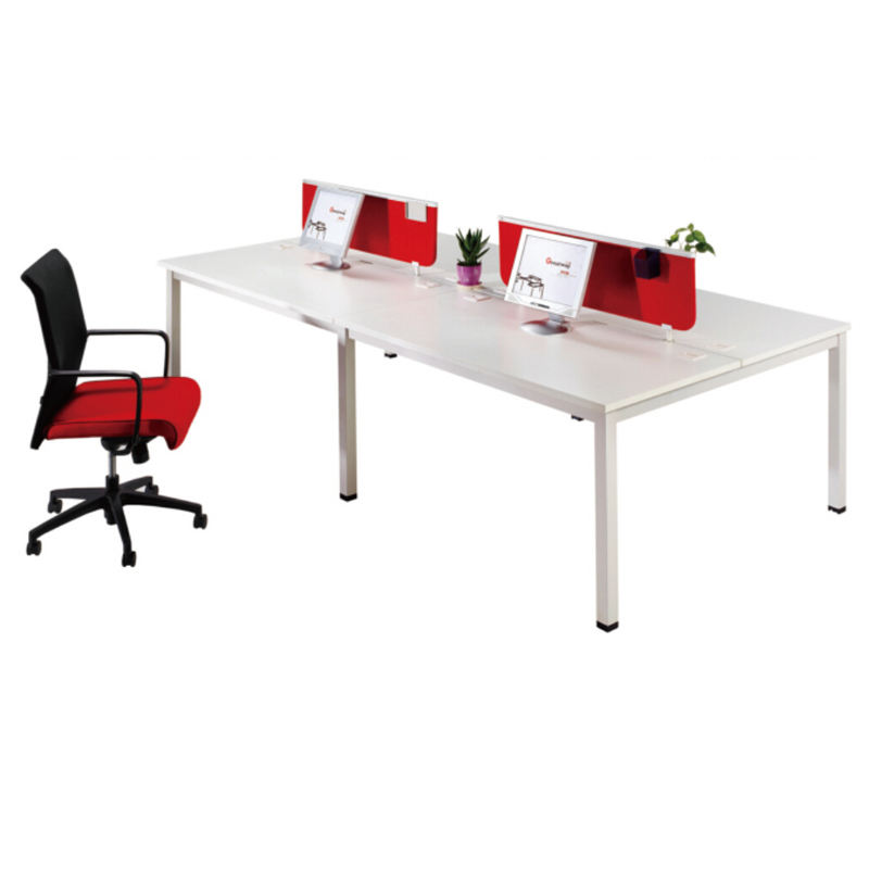 Modern office furniture white office double row workstation desk