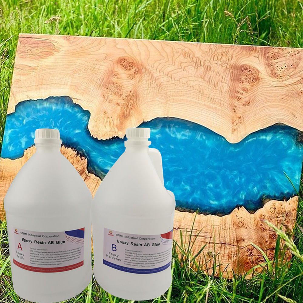 CNMI Clear Crystal Epoxy Resin High Glossy UV Protection Anti-Scratch Epoxy Resin and Hardener for Countertop Coating 3D Floor