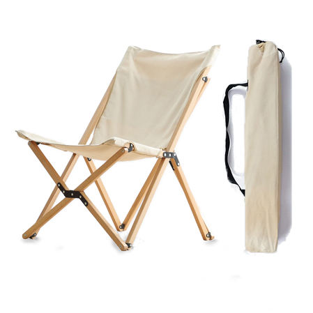 wholesale new design fold up butterfly shape wood folding camp chairs portable for camping