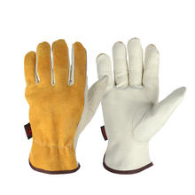 Favor design split cow work leather mechanic gloves for hand protection and general industry