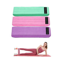 Wholesale custom logo cotton fabric exercise hip resistance booty bands set with different resistance level