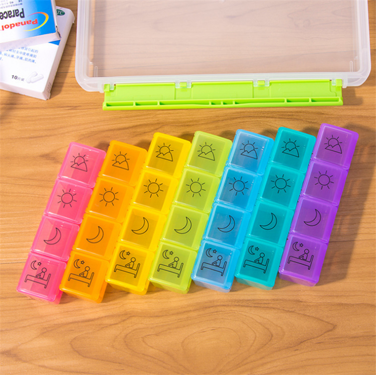 Hot Sales For Promotion Pill Box 7 Day/Travel Pill Organizer/Plastic Pill Box