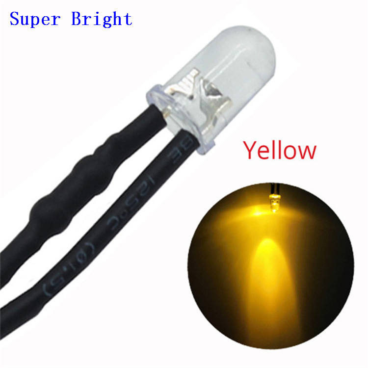 Kabel Light Emitting Dc 24V Pre Wired Led Lamp Licht Kabel Lamp Emitting Diode 18Cm 5Mm Auto licht Montage