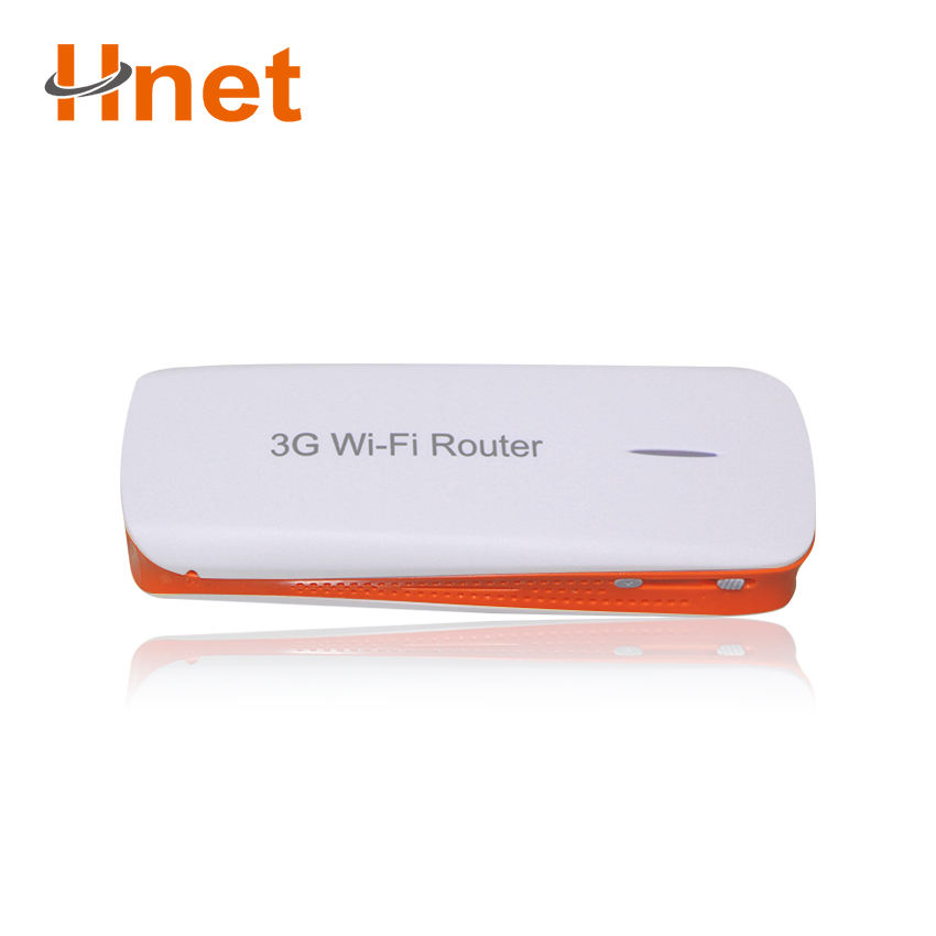 Hnet 3g lan router without sim card slot with power bank for business