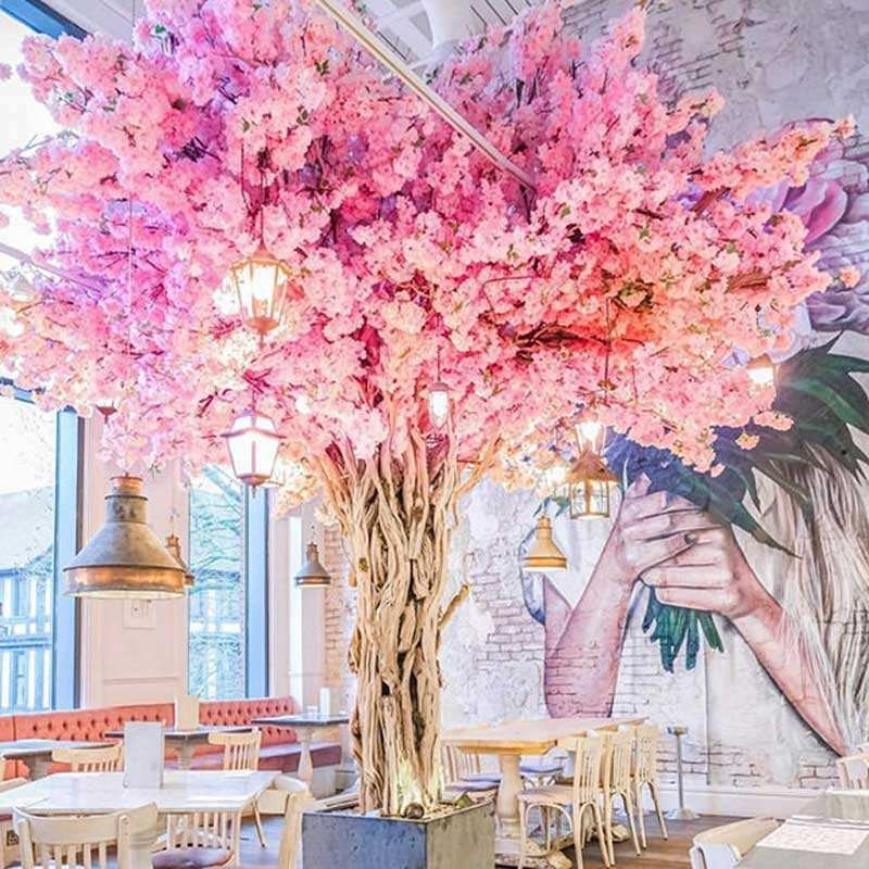 High Quality Large Decorative Pink Artificial Cherry Blossom Tree Wedding Trees