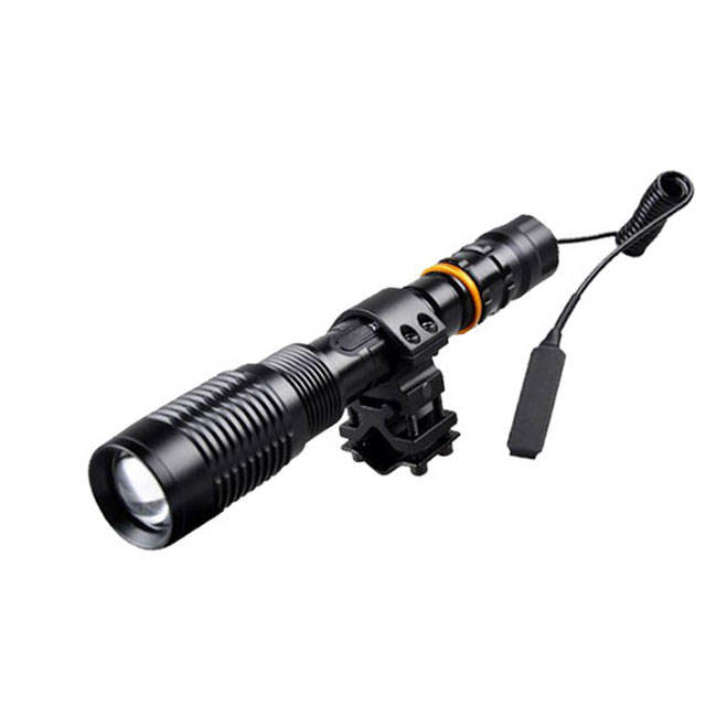 10W Zoom Rechargeable High Power T6 Cold Whtie Led Flashlight With 18650 Lithium Battery