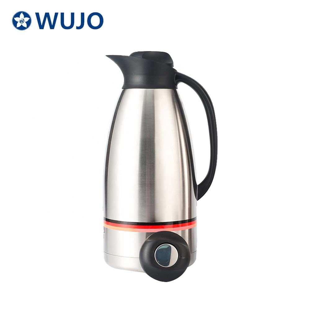 WUJO 1.2L 1.5L 2L 3L Wholesale Arabic Thermos Hotel Vacuum Double Wall Afghanistan Coffee Pot Factory