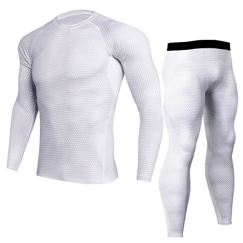 Manufacturer high quality men breathable custom set rash guard bjj oem sports rash guard mma jogging long sleeve rash guard suit