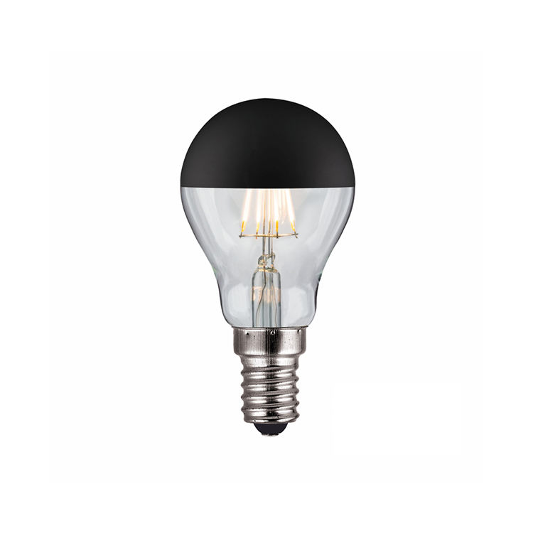 Customized dimmable black top led flexible filament bulb for residential lighting