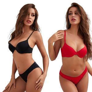 Hot Selling Popular Design Pantie And Bra Sets Push Up Women Bra Panty Set Combo