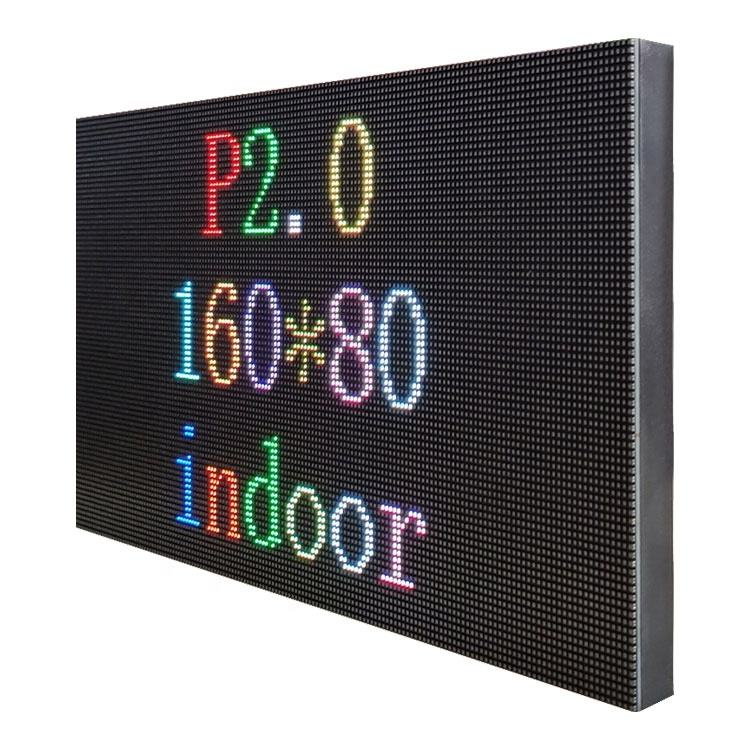 4K 1080P 320x160mm Indoor P2 LED Led Module For Wall Mounted Digital Signage Led TV