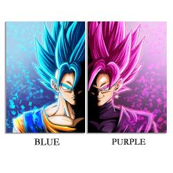 HD Dragon Ball Black Goku Anime Printing Canvas Wall Paintin