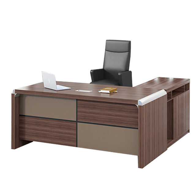 Light luxury style high quality great commercial boos wooden Office desk