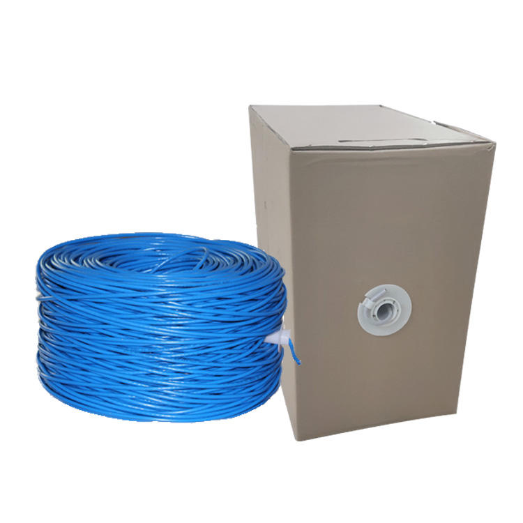 Pull box 305m per roll outdoor bare copper cat6 ftp lan internet ethernet cable