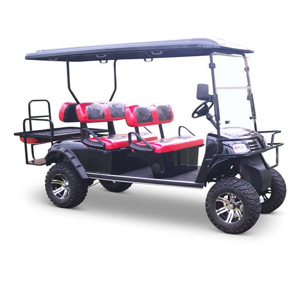 heavy duty off road 6 seat gas powered golf cart with red color/CVT golf kart for sale/high quality gas golfcart