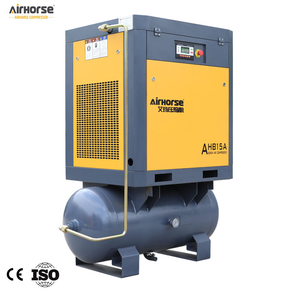 Factory Sale 11kw 15 Hp Compact Electric Rotary Screw Air Compressor Dryer Receiver Aircompressors